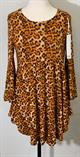 Baby Doll Bell Sleeve Tunic- Leopard