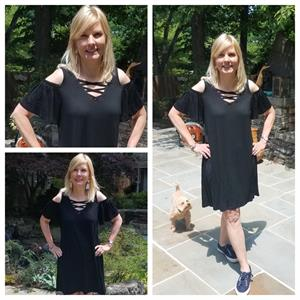 Cold Shoulder Dress For Ladies Black