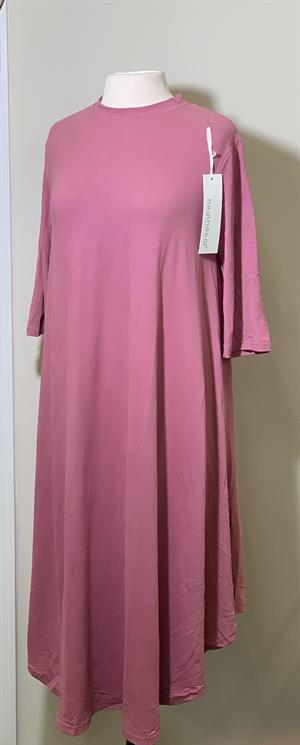 Ladies Long Dress Solid Color- Mauve