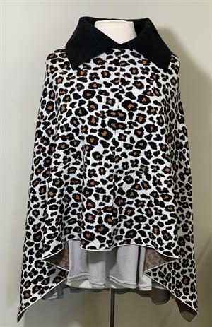 Leopard Animal Print Sweater poncho